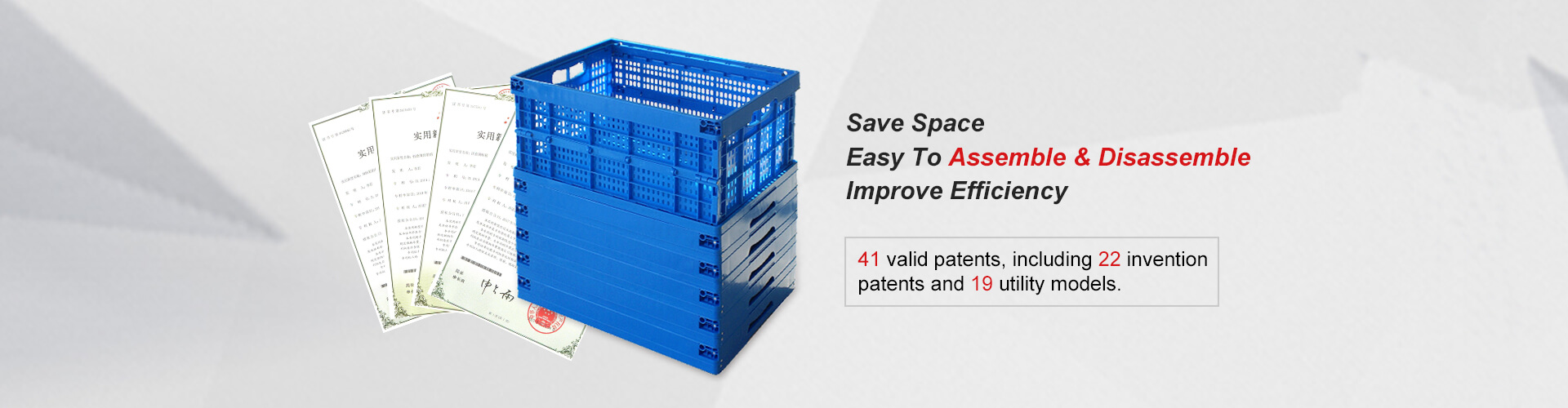 Plastic Foldable Crates - C series