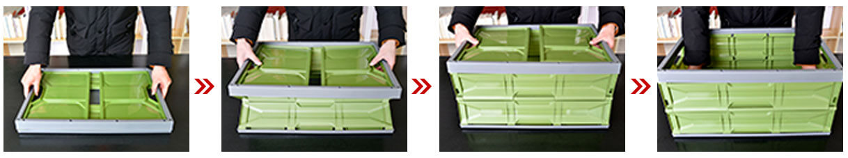 Unfolding Plastic Collapsible Containers
