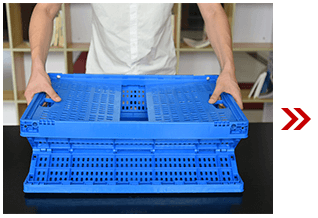Unfolding Plastic Collapsible Crate 2