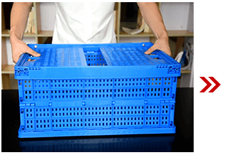 Unfolding Plastic Collapsible Crate 3