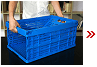 Folding Plastic Collapsible Crate 2