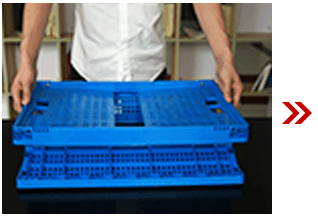 Folding Plastic Collapsible Crate 3