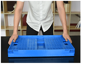 Folding Plastic Collapsible Crate 4