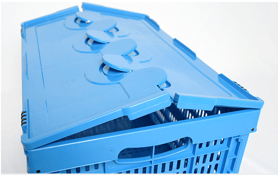 Plastic Collapsible Crates' Crossover Lid