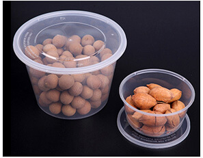 Plastic Disposable Food Containers - Round