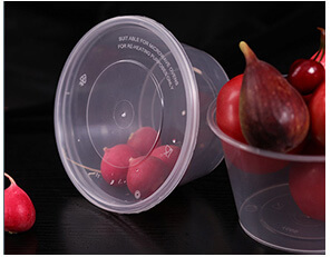 Plastic Round Disposable Food Containers