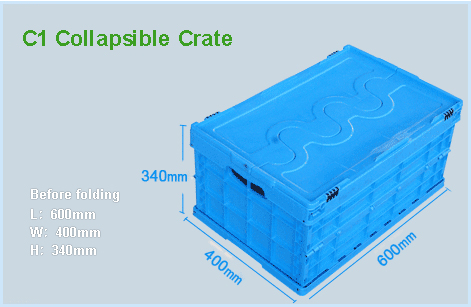 C1 Collapsible Crate Size - SHG
