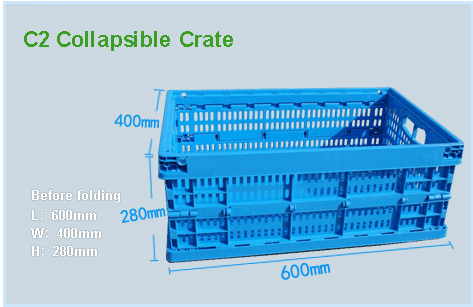 C2 Collapsible Crate Size - SHG
