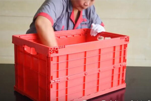 foldable crate C Series folding way